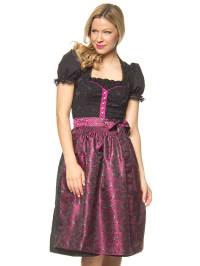 """Turi Landhaus Midi-Dirndl """"Amelie"""" in Schwarz/ Pink"""