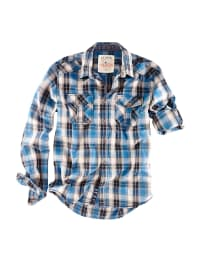 Roadsign Hemd in Blau/ Grau