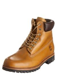Timberland Leder-Boots in Hellbraun