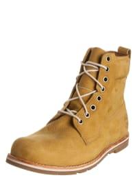 Timberland Leder-Boots in Ocker