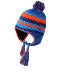 """Jack Wolfskin Strickmütze """"Knot Cap"""" in Blau/ Bunt"""