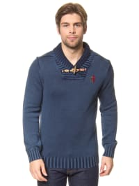 "Desigual Pullover ""Bamf"" in Blau"