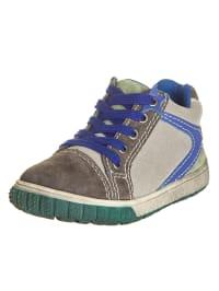 Pio Leder-Sneakers in Grau/ Blau/ Grün