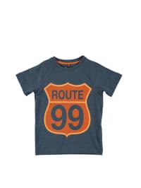 Little Pieces Shirt in Blau/ Orange