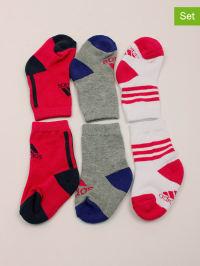 Adidas 3er-Set: Socken in Rot/ Grau/ Weiß