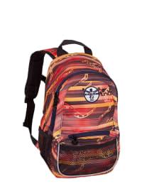 "Chiemsee Rucksack ""Tabaluga"" in Rot/ Orange/ Dunkelblau - (B)22 x (H)35 x (T)13 cm"