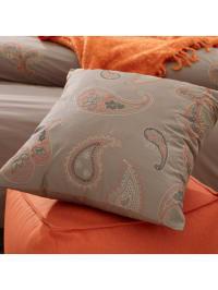 "Beddinghouse Kissenbezug ""Maine Cushion"" in Taupe/ Orange"