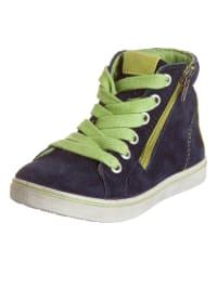 """Ricosta Leder-Sneakers """"Kaden"""" in Dunkelblau/ Hellgrün"""