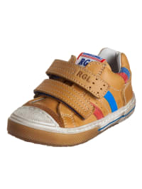 Romagnoli Leder-Sneakers in Hellbraun/ Bunt