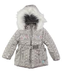 Pampolina Winterjacke in Silber/ Weiß