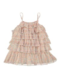 TroiZenfants Kleid in Apricot/ Bunt