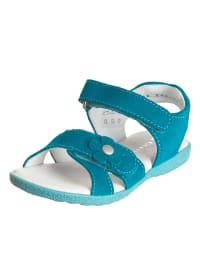 Richter Shoes Leder-Sandalen in Türkis