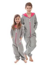 "ZipUps ZipUp ""Neon Kids"" in Grau/ Pink"