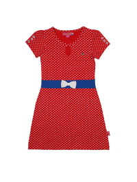 Dutch Bakery Kleid in Rot/ Blau