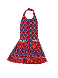 Dutch Bakery Kleid in Blau/ Rot