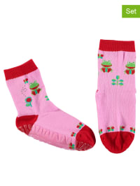 Sterntaler 2er-Set: Stopper-Socken in Rosa/ Rot