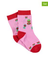 Sterntaler 2er-Set: Socken in Rosa/ Rot