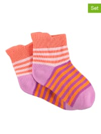 Sterntaler 2er-Set: Socken in Rosa/ Orange