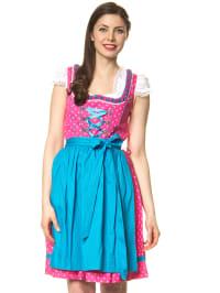 """LEKRA Mini-Dirndl """"Irmi"""" in Pink/ Blau"""