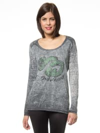 "One Green Elephant Longsleeve ""Mcallen"" in Grau/ Grün"