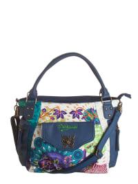 """Desigual Shopper """"McBee Floreada Carry"""" in Blau/ Bunt - (B)41 x (H)28 x (T)18 cm"""