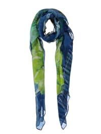 """Desigual Schal """"Rectangle Jungle"""" in Blau/ Grün - (B)110 x (L)195 cm"""