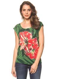 """Desigual Shirt """"Maria"""" in Grün/ Rot"""
