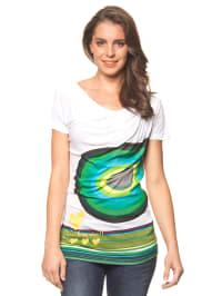 "Desigual Shirt ""Xort"" in Weiß/ Grün"