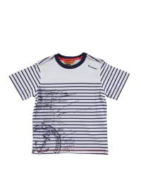 Longboard Shirt in Weiß/ Dunkelblau