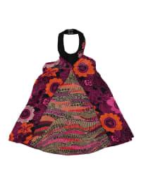 Longboard Kleid in Rot/ Bunt