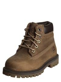Timberland Leder-Boots in Taupe