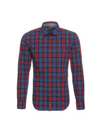 Marc O'Polo Hemd in Rot/ Blau