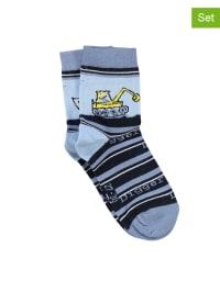MaxiMo 2er-Set: Socken in Dunkelblau/ Hellblau