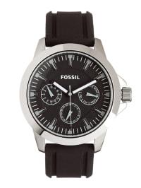 Fossil Quarzuhr in Schwarz/ Silber