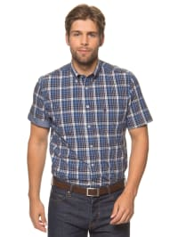 Marc O'Polo Hemd in Blau/ Dunkelblau/ Weiß