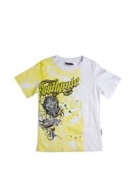 Pacino Shirt in Weiß/ Gelb