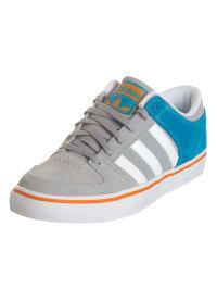 Adidas Leder-Sneakers in Grau/ Türkis