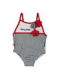 Boboli Badeanzug in Schwarz/ Weiß/ Rot