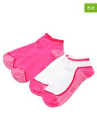 Ewers 4er-Set: Socken in Pink/ Weiß