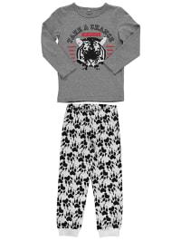 """Name it Pyjama """"Velin"""" in Grau/ Schwarz/ Weiß"""