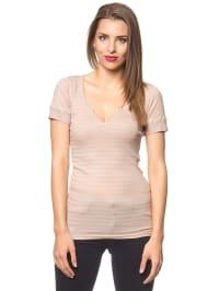 """Herrlicher Shirt """"Felia"""" in Rosé/ Taupe"""