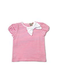 Darcy Brown Shirt in Pink/ Weiß