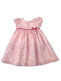 Darcy Brown Kleid in Rosa/ Fuchsia