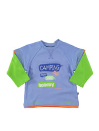 """Jacky Sweatshirt """"Campers"""" in Hellblau/ Grün/ Orange"""