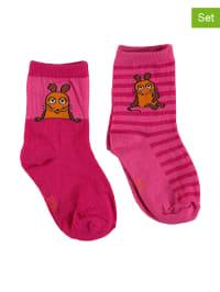 """Jansen Textil 6er-Set Socken """"Die Maus"""" in Pink"""