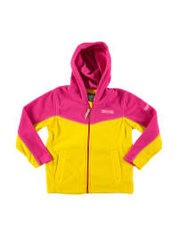 "Regatta Fleecejacke ""Marty"" in Gelb/ Pink"