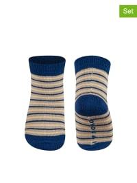 SOXO 2er-Set: Socken in Dunkelblau/ Beige