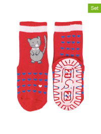 Sterntaler 2er-Set: ABS-Socken in Rot/ Blau
