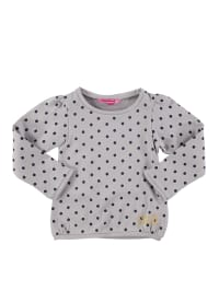 Lilou Secret Sweatshirt in Grau/ Dunkelblau