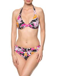Elemar Bikini in Schwarz/ Pink/ Orange
